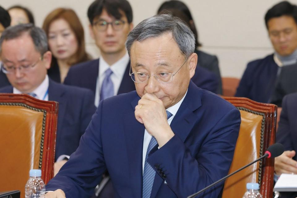 4월17일 KT 청문회에 증인으로 참석한 황창규 회장 ⓒ 시사저널 박은숙