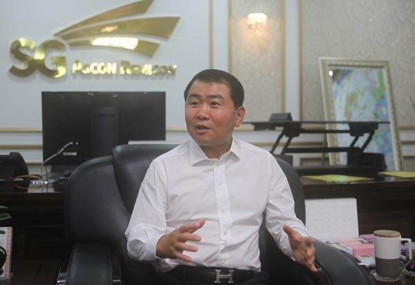 박창호 SG 대표이사가 1일 인천시 서구 소재 SG 본사 집무실에서 시사저널과 인터뷰하고 있다. ⓒ이정용기자