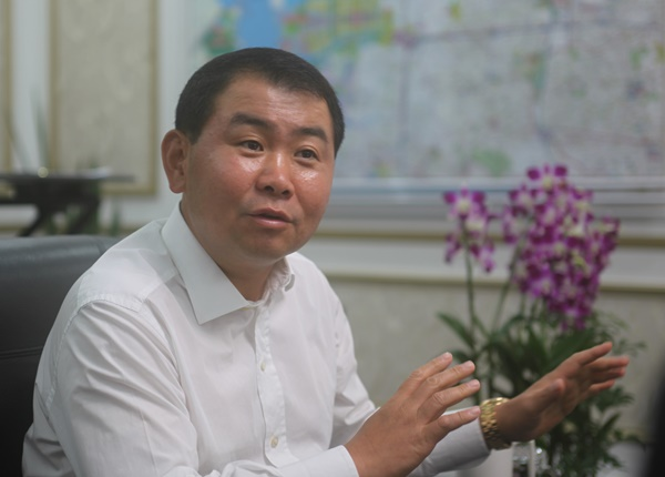 시사저널과 인터뷰하고 있는 박창호 SG 대표이사. ⓒ이정용기자