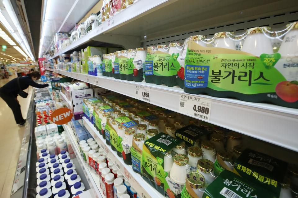 14일 서울 시내 한 대형마트에 판매 중인 남양유업 불가리스. ⓒ연합뉴스